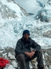 Az Everest alaptáborában, mögöttem a Khumbu jégesés