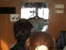 Belátás menet közben a pilótafülkébe